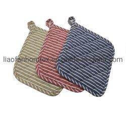 El algodón almohadilla caliente Cocina Potholder Olla alfombrilla con dos lados de la banda de impresión