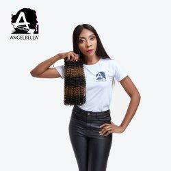 Angelbella Brasileiro humana profunda de Cabelo encaracolado pacotes de cabelo da trama