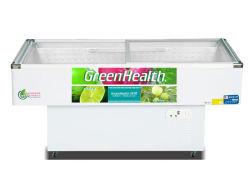 Porte en verre incurvé au réfrigérateur congélateur, Fresh-Keeping chaud épicé Cabinet, affichage des fruits de mer et des plats de viande