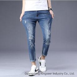 Designer Custom/индивидуального логотипа/Label/торговой марки моды растянуть/Ripped мужчин и мальчиков оптовая и запаса/Bulk джинсовой/брюки и брюки/джинсы