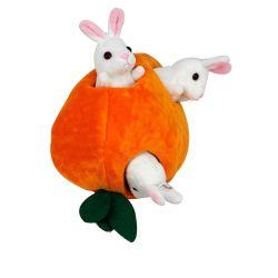2021 Custom recheadas Ninho de cenoura Coelho/Casa Conjuntos de brinquedo Animal pequeno bebê de pelúcia Coelho macio animais de peluche
