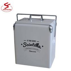 17L ретро портативный металлический холодильника с бутылкой сошника