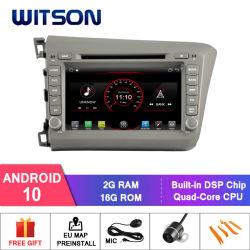 Voiture à quatre coeurs Witson Android 10 Lecteur de DVD Forhonda Civic 2012 LHD CPU : AC8227L à quadruple coeur ARM Cortex-A7 4*1,5 GHZ