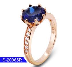 Nova Moda 925 Libra Esterlina jóias de prata Diamond Solo Anel de casamento para Mulheres