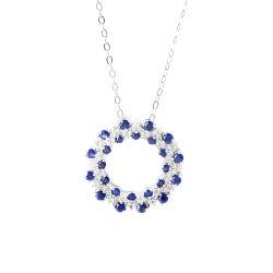 方法925の純銀のカスタム青い鋼玉石の宝石用原石の宝石類セット