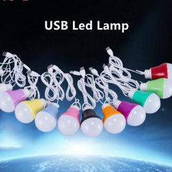 5W Lampe LED colorées Portable Ampoule de LED lumière LED de recharge USB
