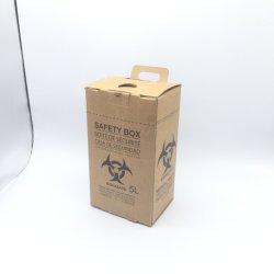 Caja de seguridad para la eliminación de las jeringas y agujas usadas