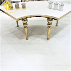 독특한 대리석 스테인리스 스틸 이벤트 웨딩 호텔 테이블