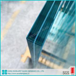 6.388.38mm-42.3810.38mm mm trempé clair et teinté Fenêtre / / / vitre de porte de verre feuilleté avec intercalaire pour verre de sécurité PVB