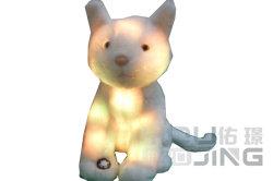 Neuer heller Hundebunte Schlüsselketten-Plüsch-Spielwaren des Entwurfs-LED
