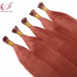 Cutícula alinhadas Federação Remy Stick/I Dica Extensão de cabelo