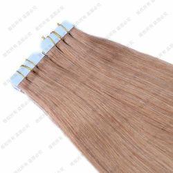 """人間の毛髪の付着力の拡張の小型テープどれもRemyのまっすぐな皮のWeft自然な毛12 """" 16 """" 20 """"ブロンドカラー"""