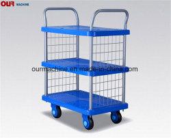 China Factory 250kg abastecido carrinho de mão 4 Carrinho de roda caminhão plataforma articulável