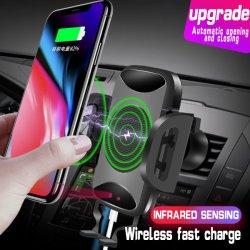 Automobile mobile di IR del supporto dell'automobile del caricatore del supporto senza fili del telefono aperta