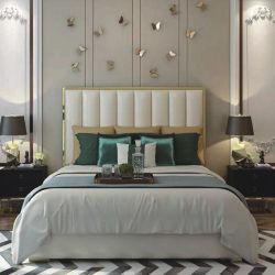 목재 침실 세트가 있는 현대적이고 고급스러운 호텔 가구