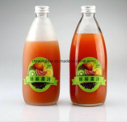 Grande capacità succo di frutta satinato Confezione bottiglia di vetro