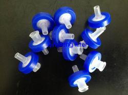 Высокий расход 0,45 мм ПВДФ шприц фильтр для удаления частиц растворителя