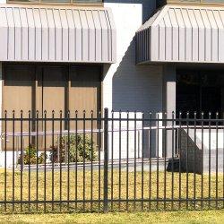 Acero galvanizado recubierto de polvo negro Jardín Panel valla de seguridad