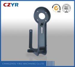 Al6061 ЧПУ обрабатывающий Алюминиевый кронштейн с черными Anodize для алюминиевых профилей подключения