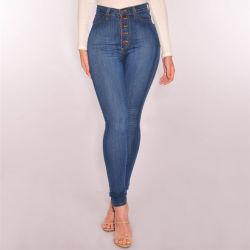 Venda por grosso de tamanho mais estoque Jeans moda jeans Jeans para mulheres de vestuário