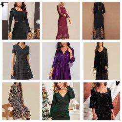 Prêt Lady's Dress célèbre marque de vêtements des femmes International Fashion Design beaucoup de stock