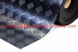 중국 미끄럼 방지 5바 체커 산업용 고무 매트 바닥 시트