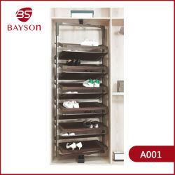 Armario Ropero saque giratorio de almacenamiento de 360 grados de estante de zapato (A001)