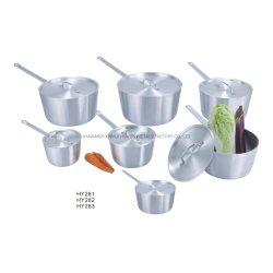 Алюминиевая кухонная суп в горшочках с крышками провод ручки для ресторана