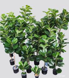 고품질 실제적인 접촉 도매 실제적인 접촉 푸른 잎 4 ' 실제적인 접촉 본사 훈장을%s 인공적인 플랜트 가짜 바이올린 잎 무화과 나무