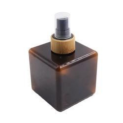 مستحضر تجميل خيزرانيّ يعبّئ [250مل] محبوب كهرمانيّة مربّعة بلاستيكيّة شامبوان زجاجة