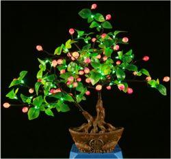 LED das luzes de Fada Topiary Artificial Bonsai Tree para piscina Graden Decoration