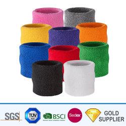 Fabricant de diverses couleurs personnalisées à bon marché le charme de sublimation ou élastique Womens exécutant les Sports de la sueur bracelet en tissu de coton pour la promotion