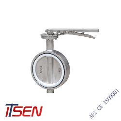 Ручки из углеродистой стали эксплуатироваться PTFE полупроводниковая пластина сиденья связи двухстворчатый клапан
