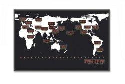 Montage mural numérique DEL électrique de la carte du monde de l'horloge de fuseau horaire