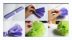 2014 il New 20cm Tissue Paper POM Poms Paper Flowers Ball New Year Decorations e Birthday Decoration per Parties