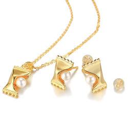 Дизайнер нишевых дизайн 925 Silver игольчатый Pearl конфеты ожерелья серьги Fun модного All-Match текстур