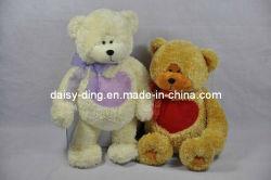 Orsacchiotto Bears di Soft della peluche per il biglietto di S. Valentino con Heart