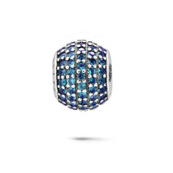 Farben-bördelt Kristallschmucksache-Silber Schmucksachen für europäisches Armband