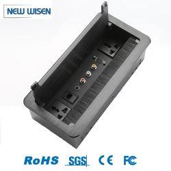 La conception de configuration personnalisé Ordinateur de bureau de gestion des fils Table benne socket socket de bureau Mobilier de bureau
