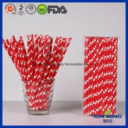 食品等級党装飾、赤く白い点のペーパーわら