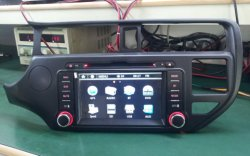 سيارة مزودة بشاشة لمس رقمية بحجم DIN 7 بوصات بدقة 800*480 راديو DVD GPS لـ KIA Rio 2012-2013