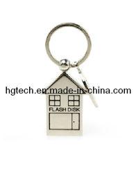 USB 32 جم على شكل منزل من الفولاذ المقاوم للصدأ (HG-056)