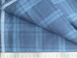 파랑 또는 해군 검사 125GSM 100%년 면 털실 염색된 직물