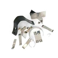 ステンレススチールシートリーフブラケット、スタンプメタルフラットクランプ コンタクト保持 V 形状スプリングクリップ