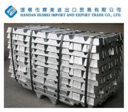 Elevado grau de pureza de uma Norma Internacional lingote de zinco 99,995% com preços competitivos de fábrica