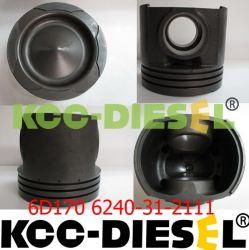 Des KOMATSU-S6D170 Eisen-Kolben Roheisen-Kolben-6240-31-2111 6162-35-2120 S6D140 Casr, Kolben S6D125
