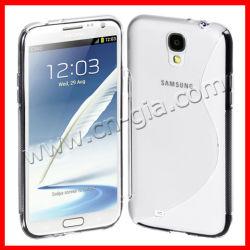 S-Linie flexible TPU Abdeckung des rückseitigen Fall-für Samsung-Galaxie S4 I9500