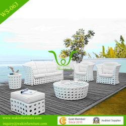 Grand patio de tissage des meubles en osier de plein air en rotin canapé en coupe