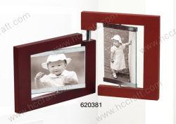 Collage de madera el marco de fotos en 2-apertura para la decoración del hogar
