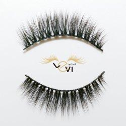 La seta lunga di estensione 3D dell'occhio della fibra di trucco del nero falso trasversale Wispy di seta morbido dei cigli frusta gli strumenti delle estetiche di bellezza